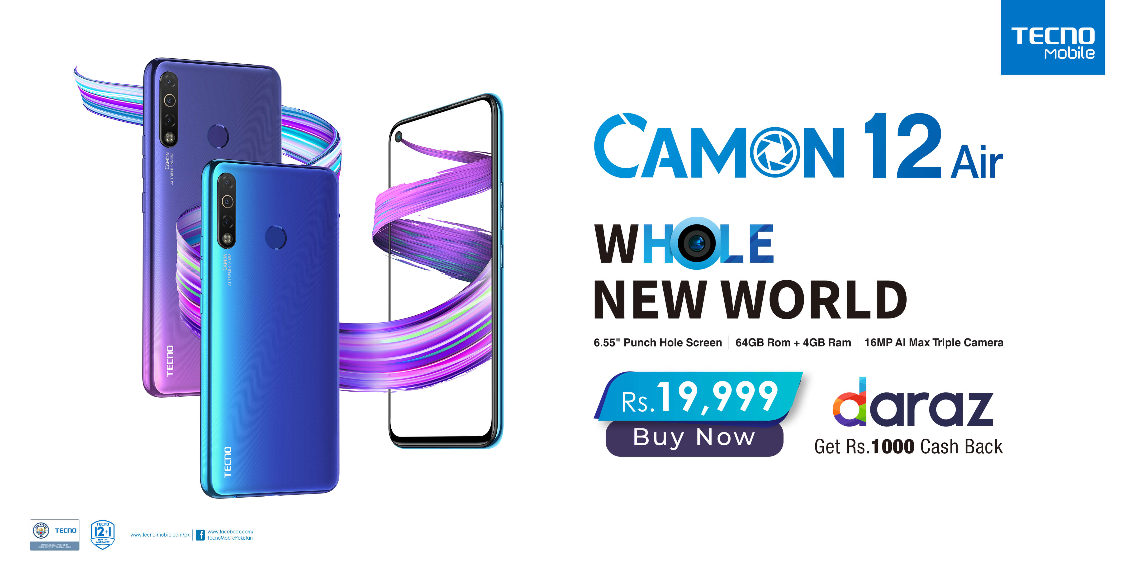 TECNO Launches CAMON 12 Air Exclusively On Daraz
