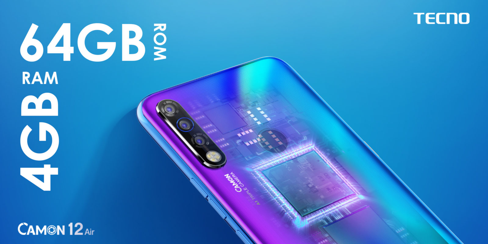 Tecno Camon 12 Air Offers a Punch Hole Display on a Budget