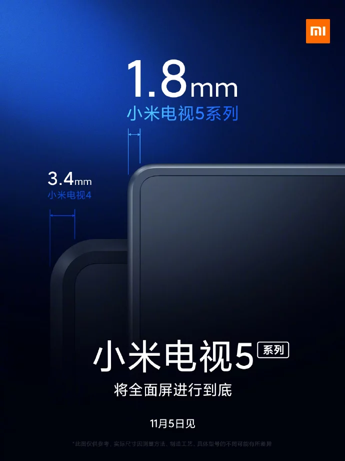 Xiaomi Teases Mi TV 5 With Ridiculously Small Bezels