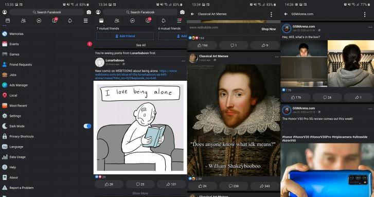 Facebook Lite Gets Dark Mode