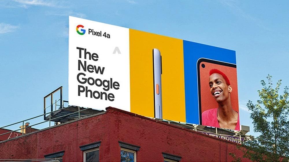 Leaked Billboard Images Reveal Google Pixel 4a Price & Design