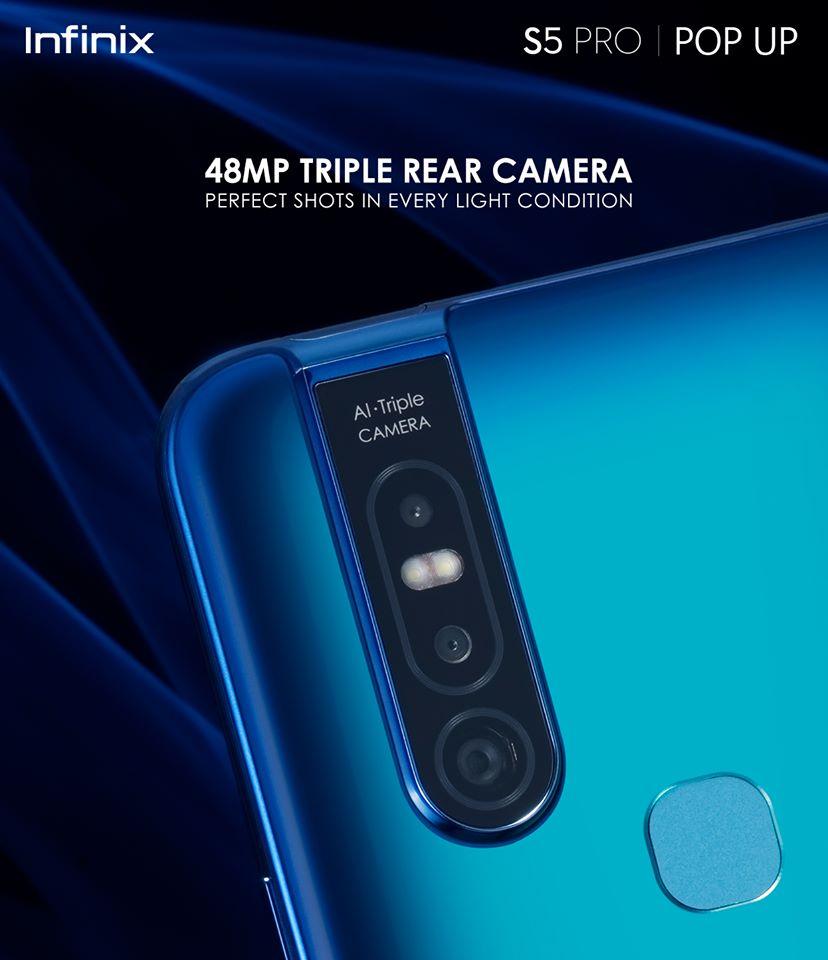 Infinix Unveils S5 Pro With a 40MP Pop-up Selfie Camera