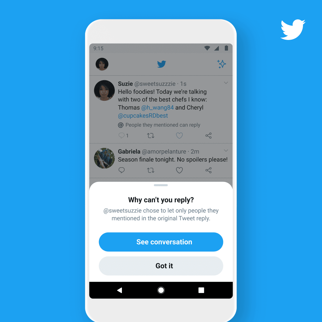 Twitter Tests a New Feature With Reply Permissions