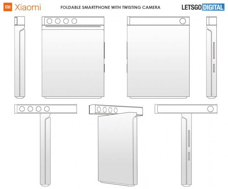 New Xiaomi Patent Shows a Folding Phone with a Rotating Camera