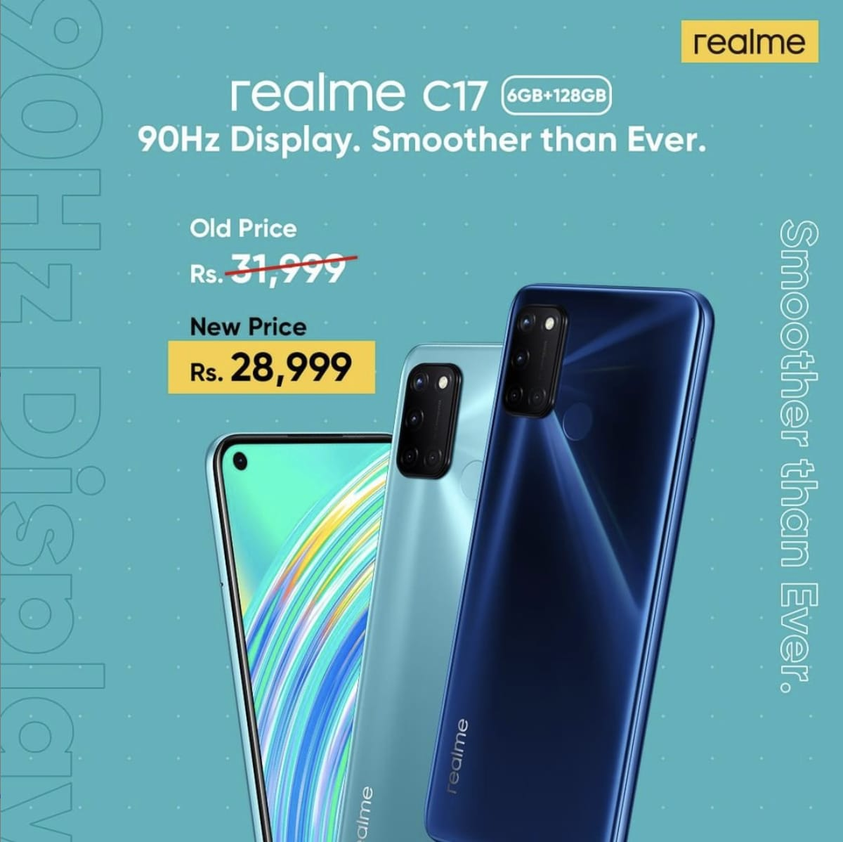 World's fastest growing smartphone brand realme just crossed 50 Million units milestone; now offering C17 for PKR 28,999 only