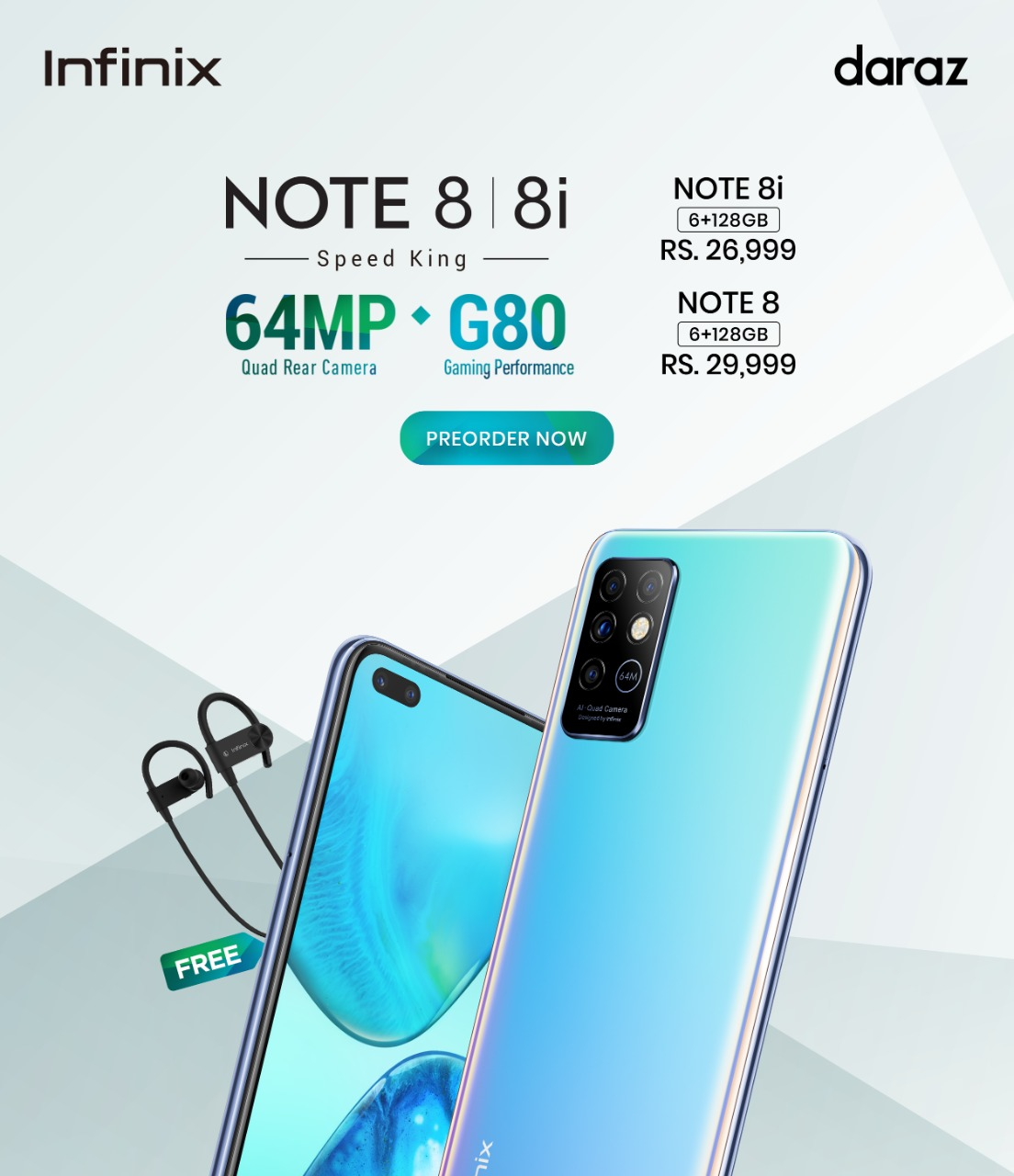 Infinix Note 8 with 64MP camera is up For Grab, Pre-Order on Daraz Now