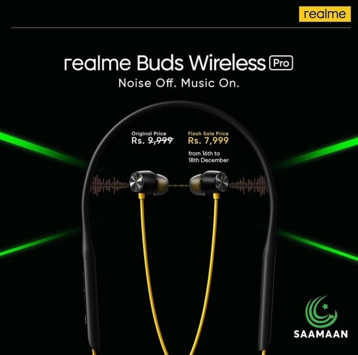 realme pakistan just released latest successor of number series realme 7i at Rs.39,999 & new addition to smart audio realme Buds Wireless Pro offered at Rs.9,999 only