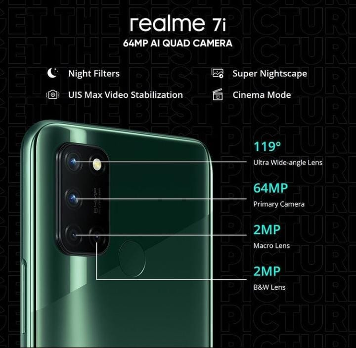 realme 7i with 64 MP quad camera is now available at discounted price of PKR 36,999 only. Grab Now!!