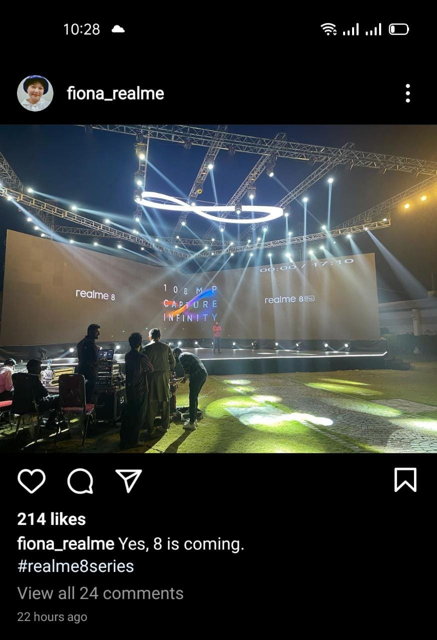 Seems like Something is Brewing in the Smartphone Industry as realme 8 Series Launch Event Photo Goes Viral