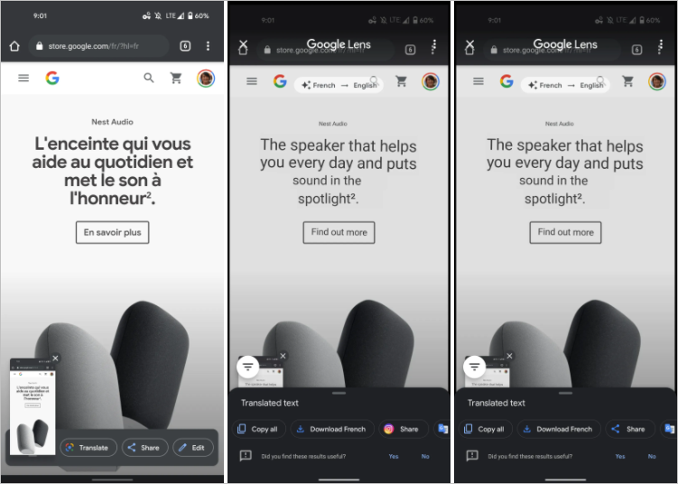 Google Lens Now Translates Screenshots Automatically