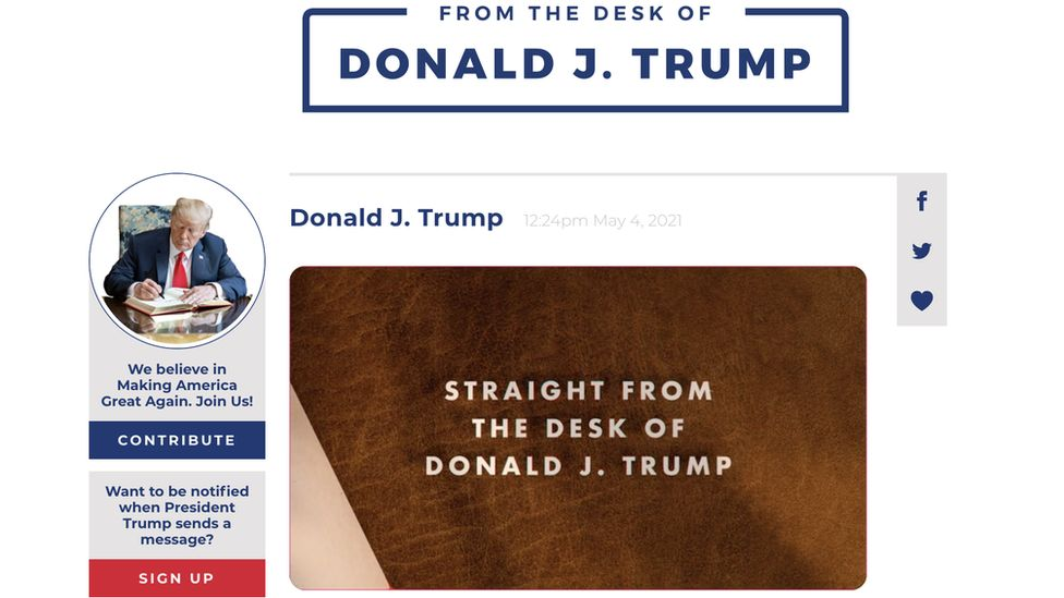 Trump Launches His Own Platform After Removal From Twitter