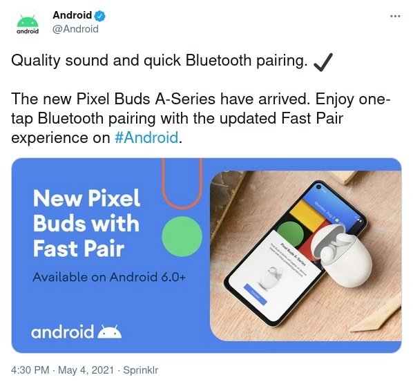 Google Pixel Buds A Accidentally Announced on Twitter