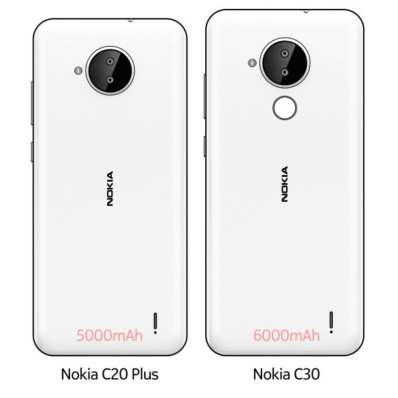 Nokia C20 Plus and C30 are Launching Soon With Big Batteries
