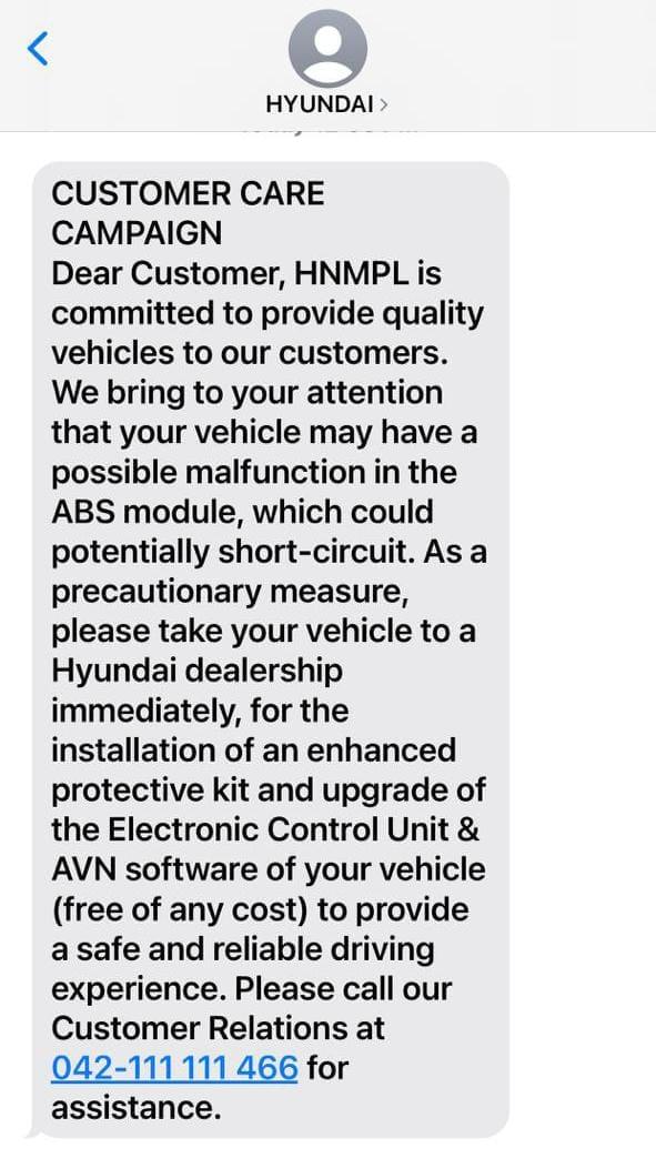 Hyundai Tucson Recalled in Pakistan Due to Fire Hazard