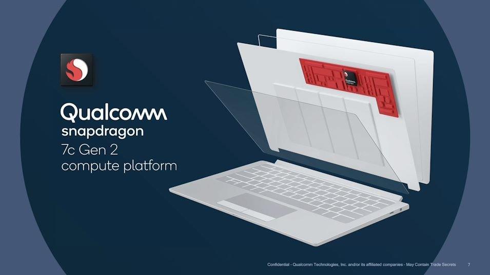 Qualcomm Announces Snapdragon 7c Gen 2 for Budget Laptops
