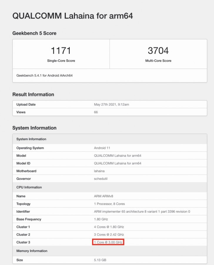 Snapdragon 888+ Appears on Geekbench With 3GHz Clock Speed