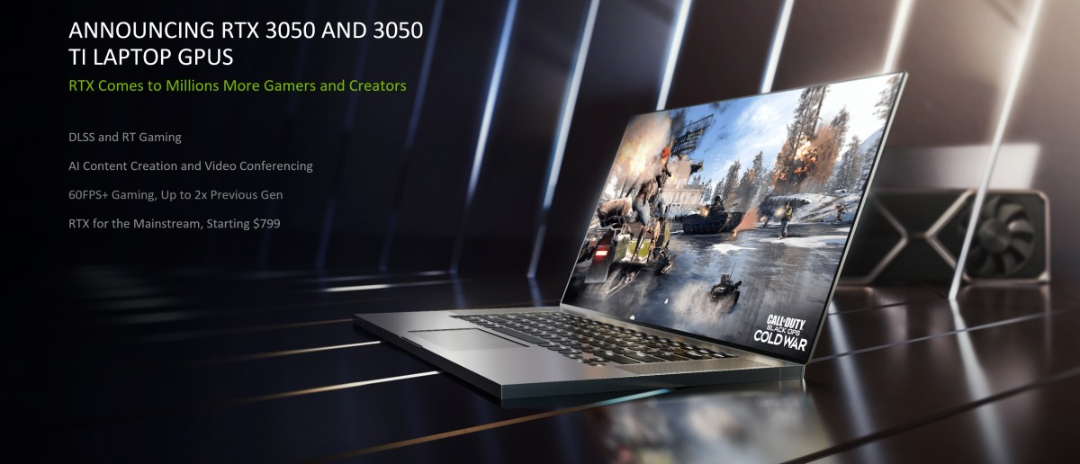 Nvidia Launches RTX 3050 and 3050 Ti Mobile GPUs for Laptops