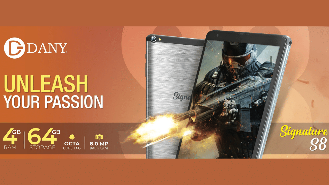 Dany Signature S8 Tablet – Your Perfect Device for Gaming and Online Work