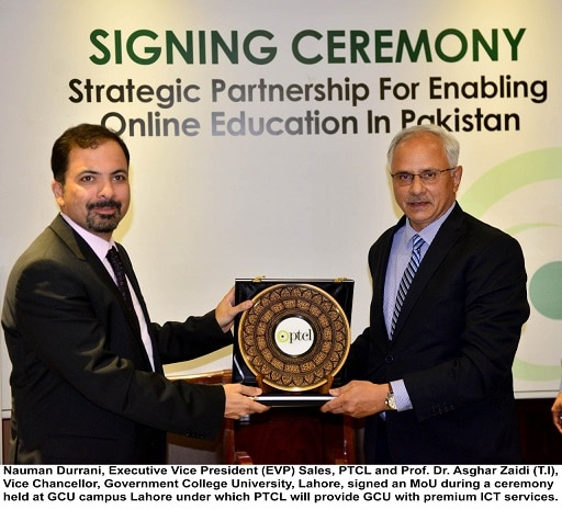 PTCL Signs MoU with GCU for Providing Premium ICT Services