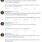 UK Bans Binance Crypto Exchange From Conducting Regulated Business