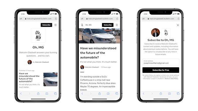 "Facebook Releases its News Platform ""Bulletin"""