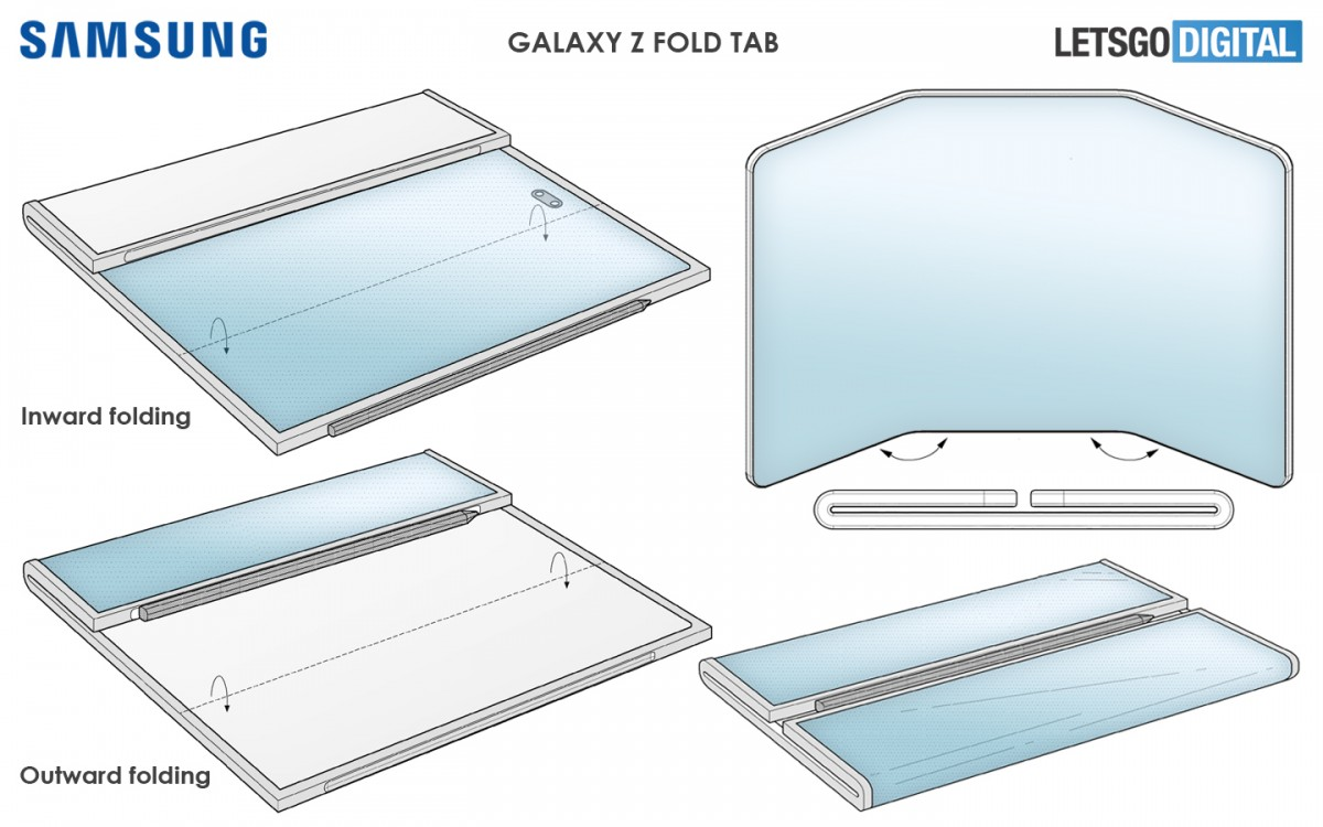 Samsung Patents a Dual Folding Phone With S Pen Support