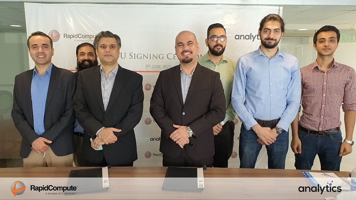 RapidCompute and analytics Pakistan Join Hands to Provide 'Data Analytics as a Service'