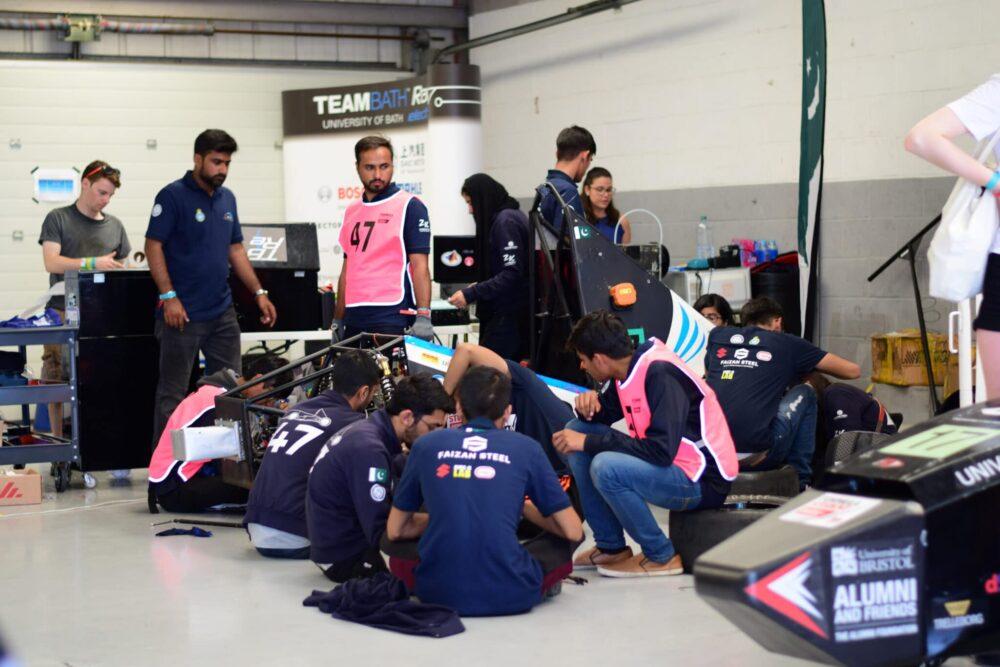 NUST's Formula Electric Racing Team Takes a Podium Finish in FSUK21