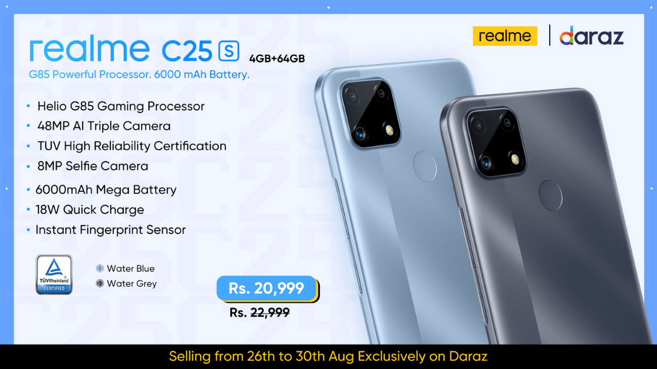 With 3,000 Units Sold, realme C25s Makes a Spectacular Debut in Pakistan