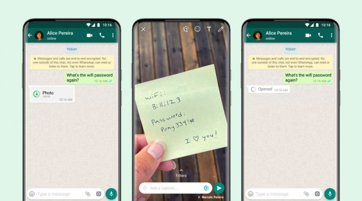 """WhatsApp Rolls Out """"View Once"""" Photos and Videos like Snapchat"""