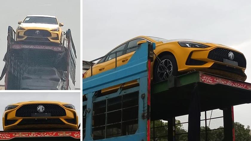 2020 MG 5 Sedan Test Unit Spotted in Pakistan