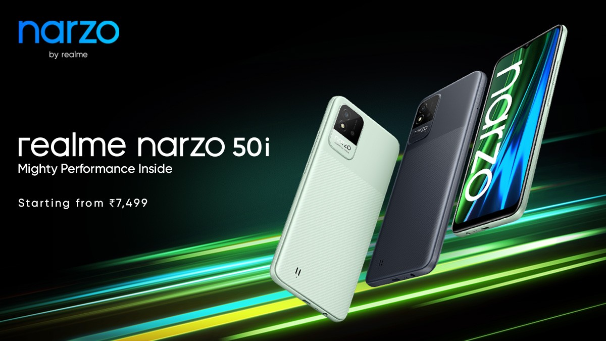 Realme Narzo 50A and 50i Launched for $156 and Below