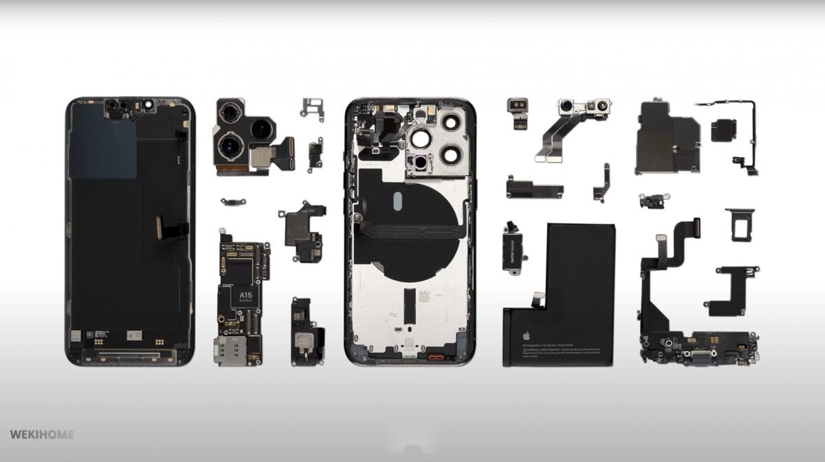 iPhone 13 Pro Teardown Reveals a 3,095 mAh Battery